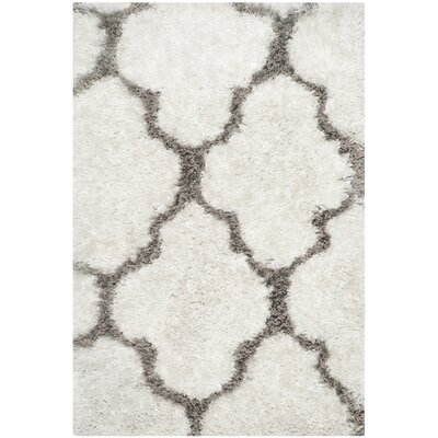 Barcelona Ivory/Silver Area Rug Rug Size: 2 x 3