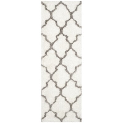 Lizabeta Ivory/Silver Area Rug Rug Size: Runner 23 x 7