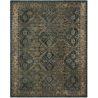 Anatolia Navy/Ivory Area Rug Rug Size: Rectangle 6 x 9