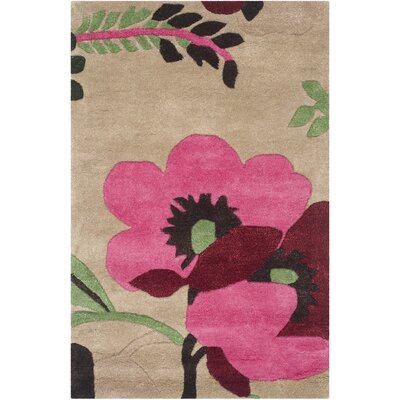 Cruz Hand-Woven Wool Sand Area Rug Rug Size: Rectangle 6 x 9