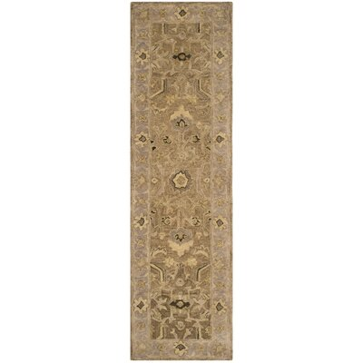 Anatolia Tan/Ivory Area Rug Rug Size: Runner 23 x 8