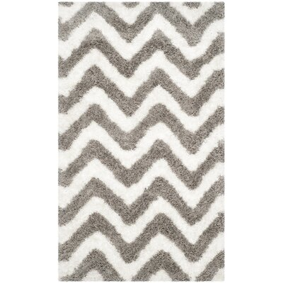 Hempstead Hand-Tufted Gray/White Area Rug Rug Size: Rectangle 9 x 12