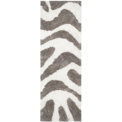 Hempstead Hand Tufted White/Gray Area Rug Rug Size: Runner 23 x 7