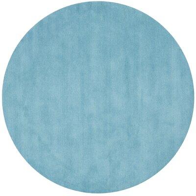Himalayan Turquoise Area Rug Rug Size: Round 6'
