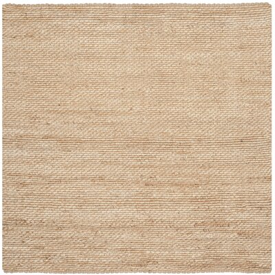Worley Hand Woven Natural Area Rug Rug Size: Square 6