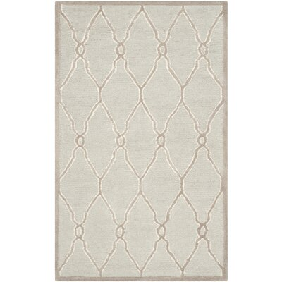 Martins Hand-Tufted Wool Light Gray/Ivory Area Rug Rug Size: Rectangle 3 x 5