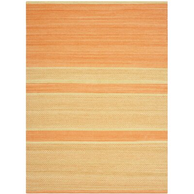 Duhart Orange/Lime Striped Rug Rug Size: 5 x 8