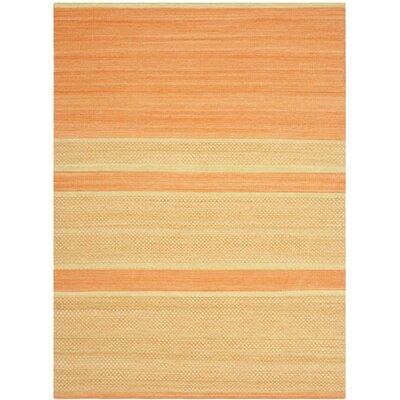 Sojourn Orange / Lime Striped Rug Rug Size: 5 x 8