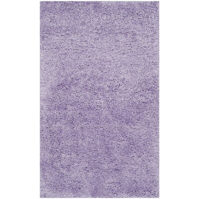 Ariel Lilac Shag Area Rug Rug Size: Rectangle 3 x 5