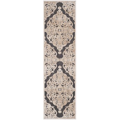 Darroll Stone/Anthracite Area Rug Rug Size: Runner 22 x 8