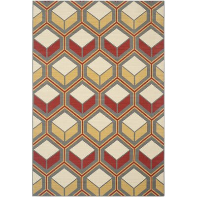 Hampton Geometric Outdoor Area Rug Rug Size: 51 x 77