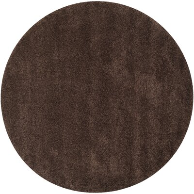 Rowen Brown Area Rug Rug Size: Round 4
