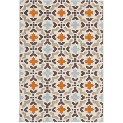 Clermont Cream Indoor/Outdoor Area Rug Rug Size: Rectangle 4 x 57