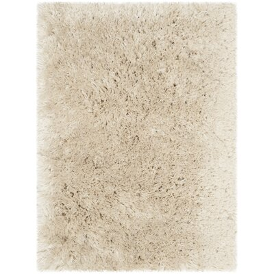 Dax Shag Hand-Tufted Beige Area Rug Rug Size: Rectangle 26 x 4