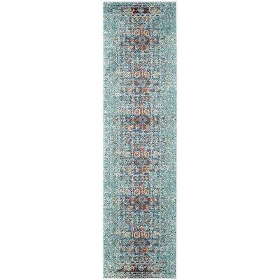 Artemis Blue Area Rug Rug Size: Runner 22 x 14