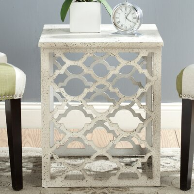 Lonny End Table Finish: Distressed White