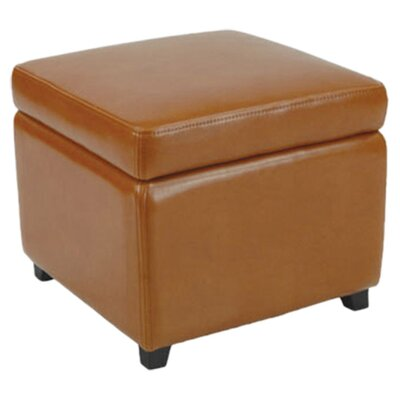 Jonathan Cube Storage Ottoman Color: Saddle