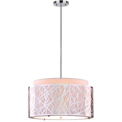 Double Tree 1-Light Drum Pendant