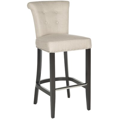 Addo Ring 29.7 inch Bar Stool Upholstery: Biscuit Beige