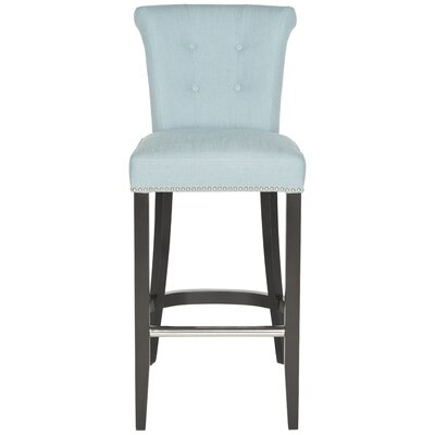 Addo Ring 29.7 Bar Stool Upholstery: Sky Blue