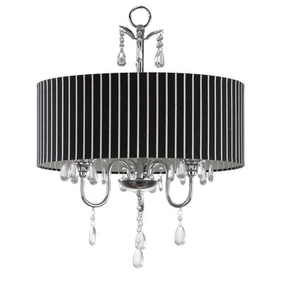 Abbeville 3-Light Drum Chandelier