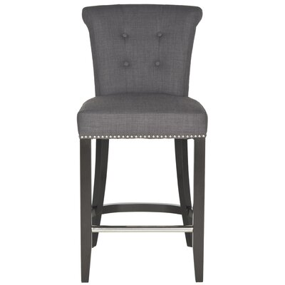 Addo Ring 25.7 Bar Stool Upholstery: Charcoal