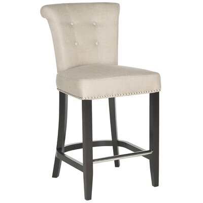 Addo Ring 25.7 inch Bar Stool Upholstery: Biscuit Beige