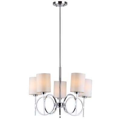 Meredith Braclet 5-Light Shaded Chandelier