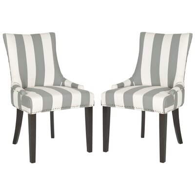 Lester Side Chair Upholstery: Grey / Bone