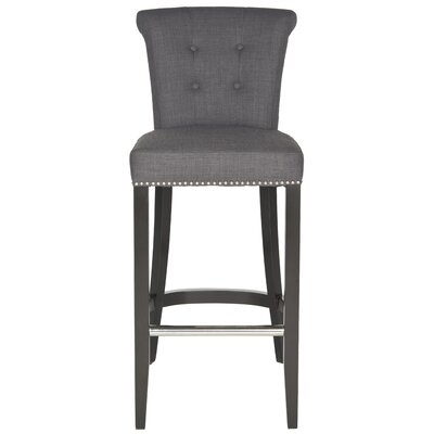 Addo Ring 29.7 Bar Stool Upholstery: Charcoal