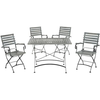 Lawndale 5 Piece Dining Set Finish: Ash Grey