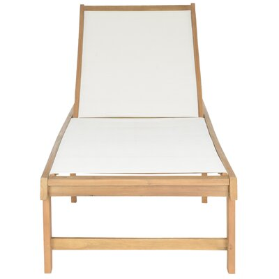 Manteca Chaise Lounge Finish: Teak  Brown