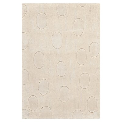 Soho White/Tan Area Rug Rug Size: 5 x 8