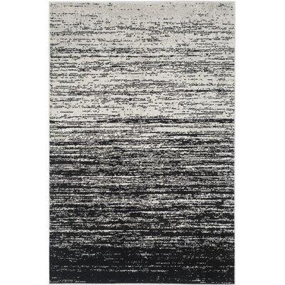 Adirondack Silver/Black Area Rug Rug Size: 9' x 12'