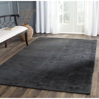 Mirage Black Area Rug Rug Size: Rectangle 10 x 14