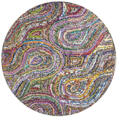 Anaheim Abstract Area Rug Rug Size: Round 4