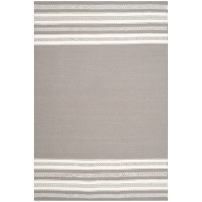 Dhurries Hand Woven Cotton Light Brown Area Rug Rug Size: Rectangle 8 x 10