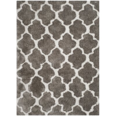 Barcelona Silver/White Area Rug Rug Size: 5' x 8'