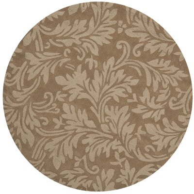 Impression Light Brown Area Rug Rug Size: Round 5