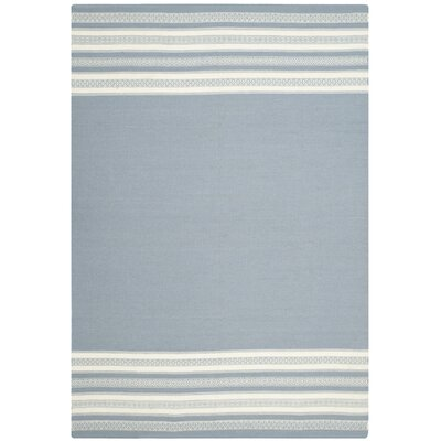Dhurries Hand Woven Cotton Gray Area Rug Rug Size: Rectangle 5 x 8