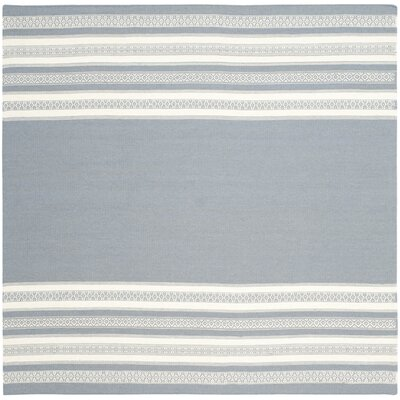 Dhurries Gray Area Rug Rug Size: Square 6