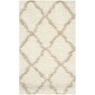 Shag Ivory/Beige Area Rug Rug Size: Rectangle 3 x 5