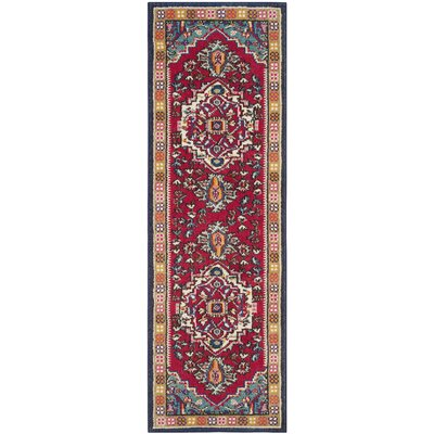 Ward Red Area Rug Rug Size: Runner 22 x 12