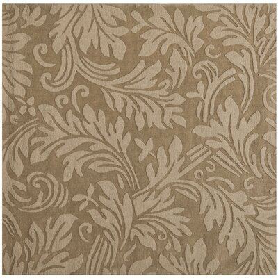 Impression Light Brown Area Rug Rug Size: Square 6