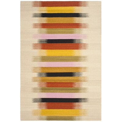 Dhurries Beige Area Rug Rug Size: Rectangle 8 x 10