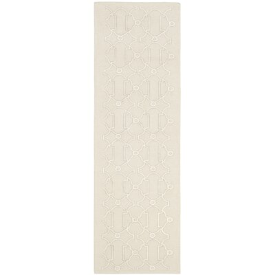 Dhurries Beige Area Rug Rug Size: Runner 26 x 8