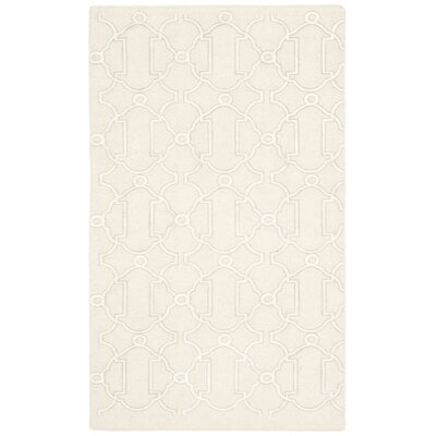 Dhurries Beige Area Rug Rug Size: Rectangle 4 x 6