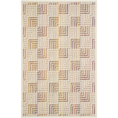 Havana Beige/Purple Indoor/Outdoor Area Rug Rug Size: Rectangle 51 x 77