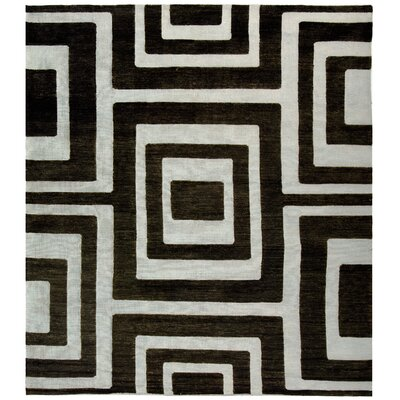 Santa Fe Silver/Black Area Rug Rug Size: Rectangle 6 x 9