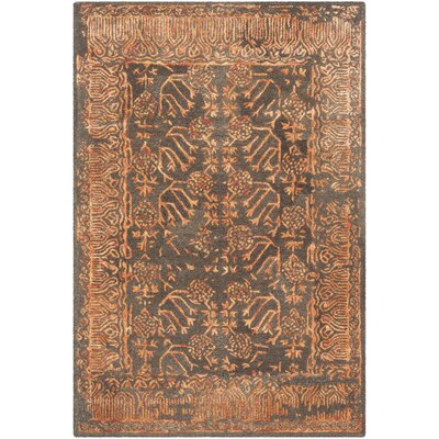 Sapphire Light Brown/Rust Area Rug Rug Size: Rectangle 4 x 6